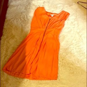 Tangerine front zip dress